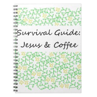 Jesús y café spiral notebook