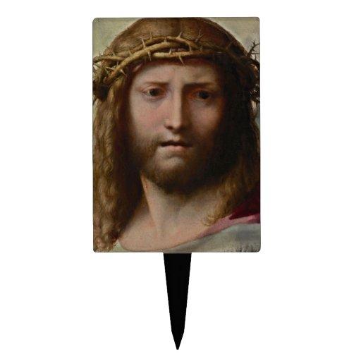 Jesús y corona de espinas figuras de tarta