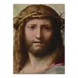 Jesús y corona de espinas invitacion personalizada