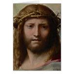 Jesús y corona de espinas tarjetas
