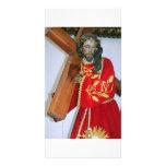 Jesús y cruz, Antigua Plantilla Para Tarjeta De Foto
