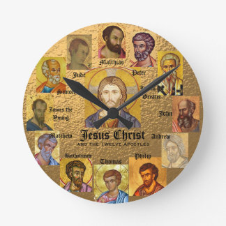 Jesús y el reloj de 12 apóstoles