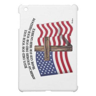 Jesús y la cruz rugosa los E.E.U.U. de los soldado