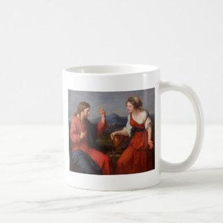 Jesús y la mujer en el pozo tazas