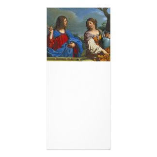 Jesus y la Samaritana en el pozo Custom Rack Card