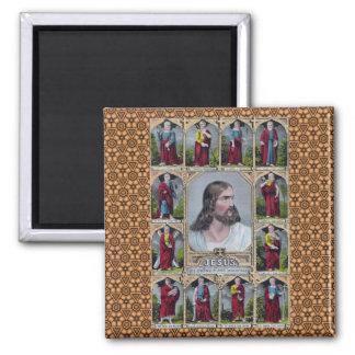 Jesús y los 12 apóstoles imanes de nevera