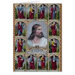 Jesús y los 12 apóstoles tarjeta de felicitación
