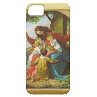 Jesús y los niños iPhone 5 Case-Mate carcasa