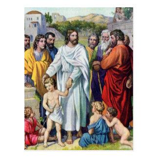 Jesús y los niños tarjetas postales