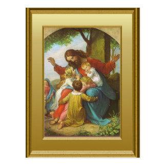 Jesús y los niños postales