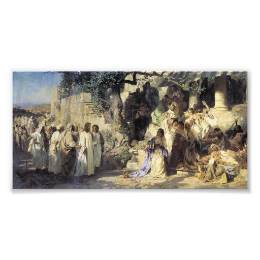 Jesús y los pecadores impresion fotografica