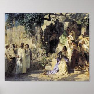 Jesús y los pecadores póster