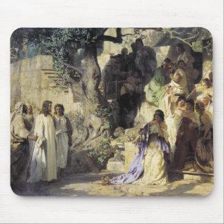 Jesús y los pecadores tapetes de raton