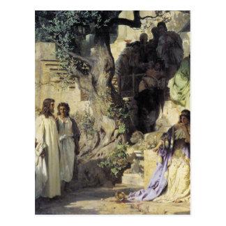 Jesús y los pecadores postal
