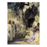 Jesús y los pecadores tarjetas postales
