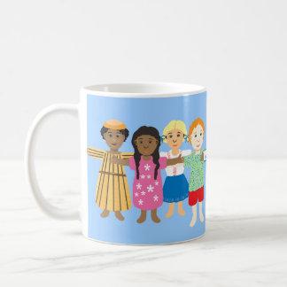 Jesús y los pequeños niños taza