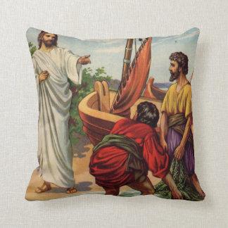 Jesús y los pescadores cojín