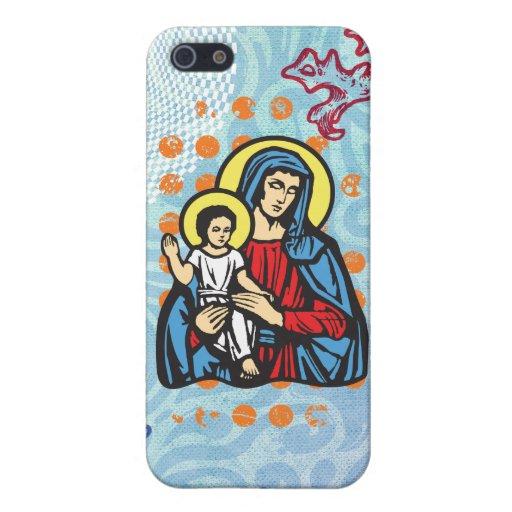 Jesús y Maria Gloria, sólida por christianstores. iPhone 5 Carcasas