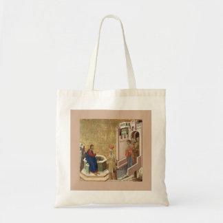 Jesús y mujer en el pozo bolsa tela barata
