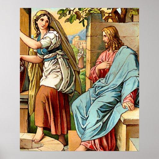 Jesús y mujeres en el poster bien