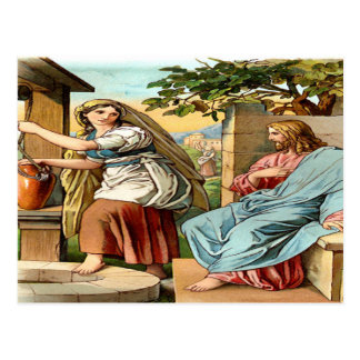 Jesús y mujeres en la postal bien