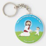 Jesús y niño llaveros