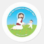 Jesús y niño pegatinas