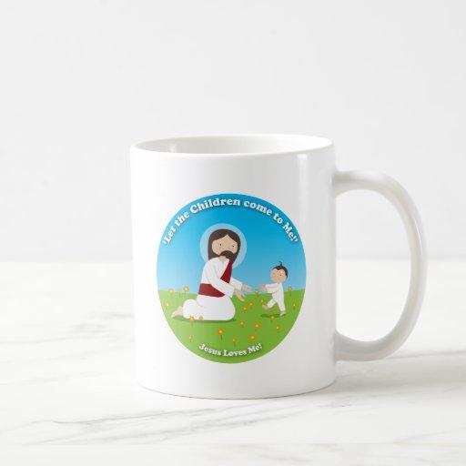 Jesús y niño taza