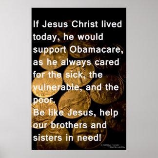 Jesús y Obamacare Impresiones