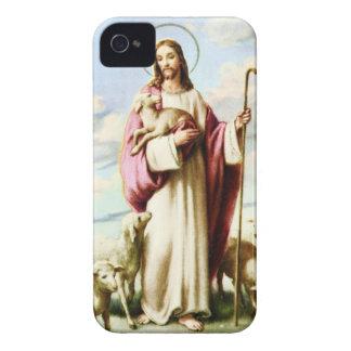 Jesús y ovejas Case-Mate iPhone 4 carcasa