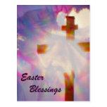 Jesús y postal de Pascua de la cruz