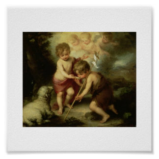 Jesús y San Juan Bautista infantiles circa 1600's Posters