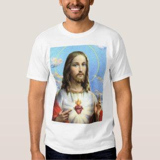 Jesús y su corazón sagrado playera