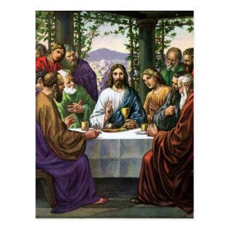 Jesús y sus amigos en el cuarto superior tarjetas postales