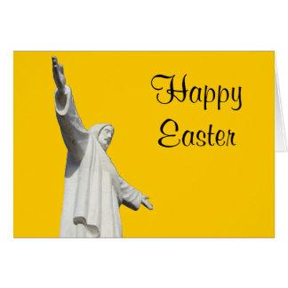jesus yellow easter greeting card