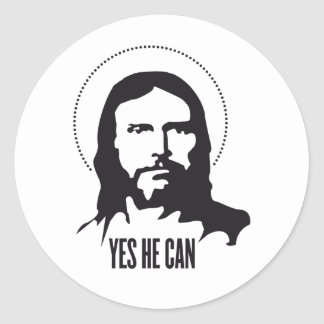 Jesus yes he can classic round sticker