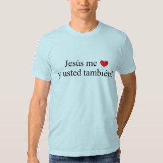 ¡Jesús yo también usted y del ama! Camiseta Playeras