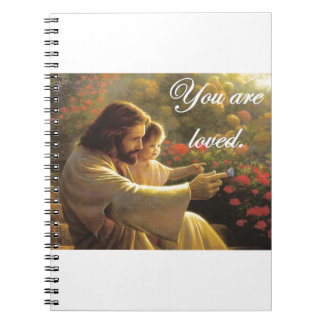 Jesus- You Are Loved Spiral Notebooks
