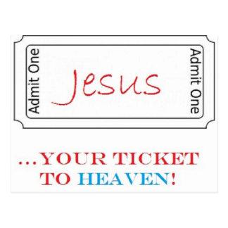 Jesus...Your Ticket to Heaven! Postcard