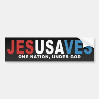 JesUSAves Car Bumper Sticker