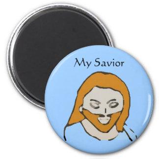 jesuschrist, mi salvador imán redondo 5 cm