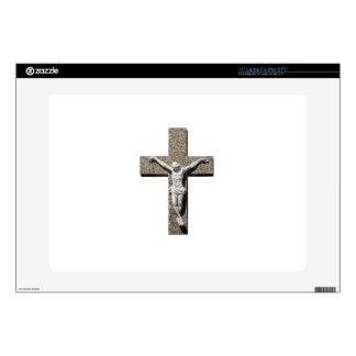 "Jesuschrist on a Cross Sculpture 15"" Laptop Skins"