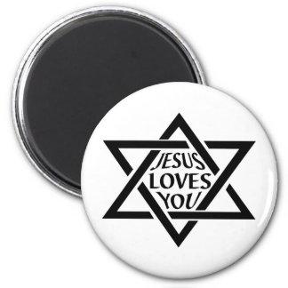 JesusLovesYouJewishStar Magnet