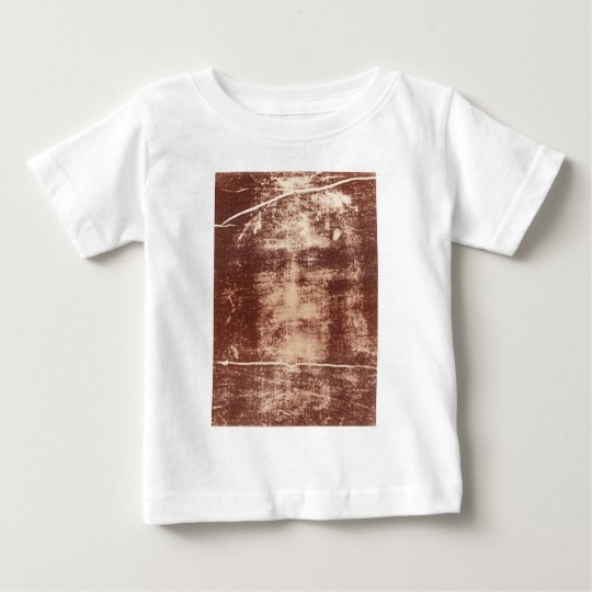Jesus's Face Close up on the Shroud of Turin Baby T-Shirt