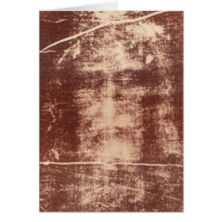 Jesus's Face Close up on the Shroud of Turin Card