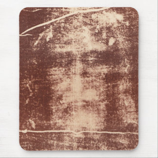 Jesus's Face Close up on the Shroud of Turin Mouse Pad