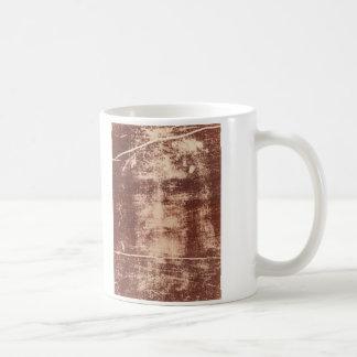 Jesus's Face Close up on the Shroud of Turin Classic White Coffee Mug
