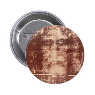 Jesus's Face Close up on the Shroud of Turin Pinback Button