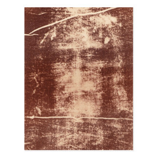 Jesus's Face Close up on the Shroud of Turin Postcard