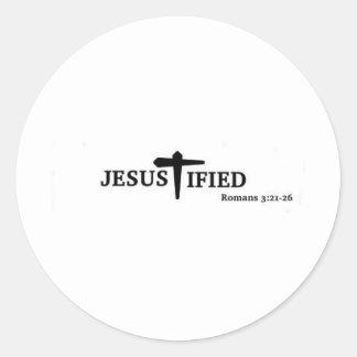 Jesustified Pegatina Redonda